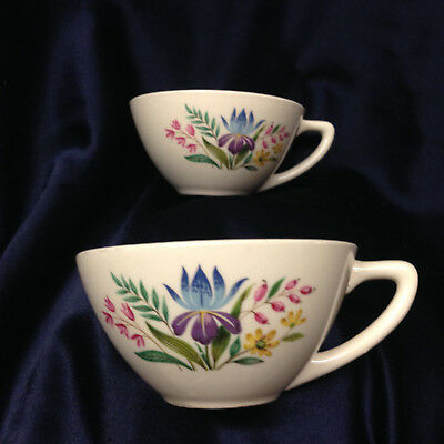 Edwin Knowles Scandia 2 Cups Multicolor Floral Flowers