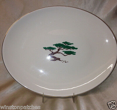 "Edwin Knowles Usa Pine Tree 12 3/4"" Oval Serving Platter Bonsai American"