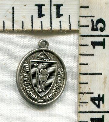 Vintage Sterling Bracelet Charm~#73449~Massachusetts State Seal~Yours For $16!!