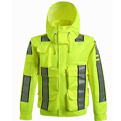 CNSS Insulated Safety Reflective VISIBILITY Waterproof Jackets Work Raincoats