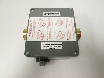 "New Omega MR HFLR6315D Digital Flow Transmitter 1-15GPM 3500PSI 1/2"" NPT 4-20mA"
