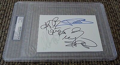Quiet Riot 1990's Band Signed Autographed 4x6 Index PSA Certified & Slabbed #1