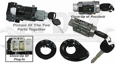 Ignition Lock Cylinder with Keys Switch Passlock Security and Housing Combo Kit