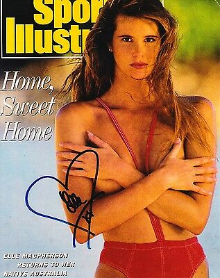 ELLE macpherson SIGNED 8X10 COLOR PHOTO REPRINT TOPPLESS VERY SEXY AUTOGRAPHED