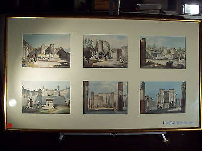 """SET OF EIGHT 19th CENTURY """"GRAND TOUR"""" WATERCOLORS OF SCENES IN ITALY"""