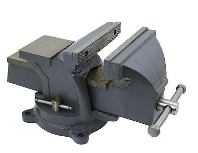 "6"" Heavy Duty Bench Vise Clamp Tabletop Swivel Locking Steel Base Anvil Locking"