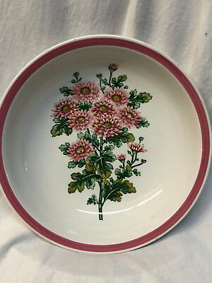 Harmony House Pick Asters Round Vegetable Serving Bowl Flowers