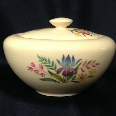 Edwin Knowles Scandia Oval Sugar Bowl Multicolor Floral