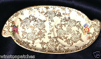 """Lord Nelson 2528 Shaker Set Tray Only 6"""" Floral Sprays Gold Chintz Elijah Cotton"""