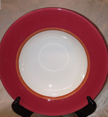 "Royal Doulton Jubilee Rim Soup Bowl 10"" Pink Band"