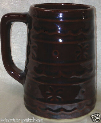 "Marcrest Daisy Dot 5"" Tall Mug Dark Brown 20 Oz Capacity"
