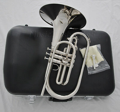 Professional Nickel Silver F key Marching Mellophone horn With Case mouthpiece