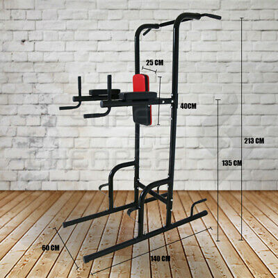 Home Gym Fitness Power Tower CHIN UP  PUSH PULL Dip Abs Workout Station
