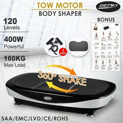 400W 3rd Two Motor Vibration Machine 360 Degree Massager Shaker Platform
