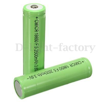 2x 18650 2500mah 3.6V Li-ion Rechargeable Battery For Samsung Genuine INR