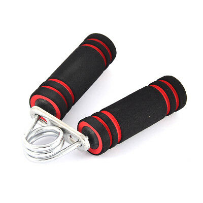 Exercise Fitness Foam Wrapped Handle Hand Forearm Gripper Strengthener Tool Red