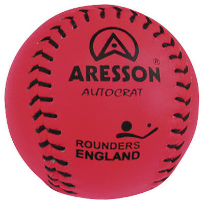 Aresson Autocrat Leather Rounders Ball High Visibility Baseball Pink rrp£13