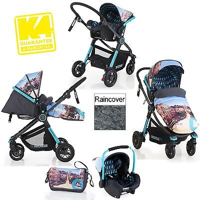 Koochi/cosatto Litestar Travel System San Fran Pushchair And Group 0+ Car Seat