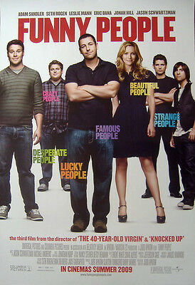 Funny People (2009) Original One-Sheet Cinema poster, Adam Sandler, Seth Rogen