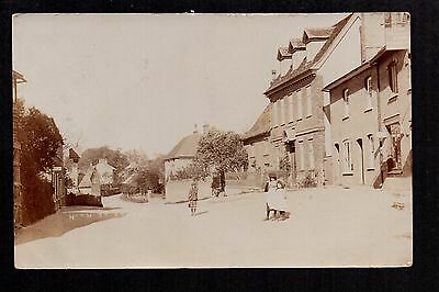 Ashwell - High Street - real photographic postcard