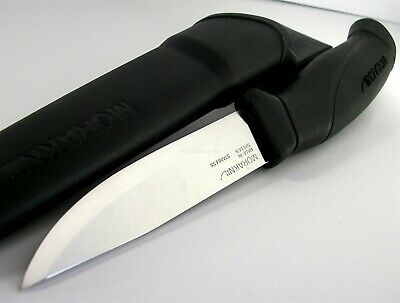 Mora Morakniv Companion Black Handle Stainless Steel Knife Sweden 14201