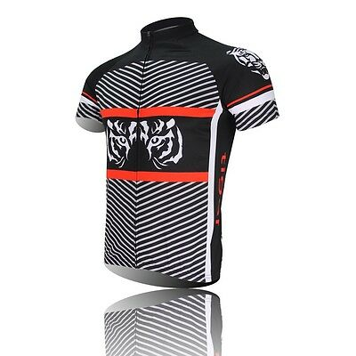 Tiger Sportwear Cycling Jersey Bike  Bicycle Clothing Short Sleeve Jersey Top