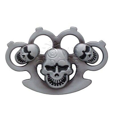 Silver Knuckle Buster Skull Theme Belt Buckle Collectable Novelty Unisex