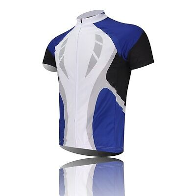 Speed Cycling Jersey Bike Sport Bicycle Clothing Short Sleeve Jersey Top Blue