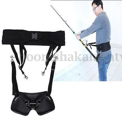 Sea Fishing Fighting Waist Belt Rod Pole Holder Big Tackles Fishing Harness AU