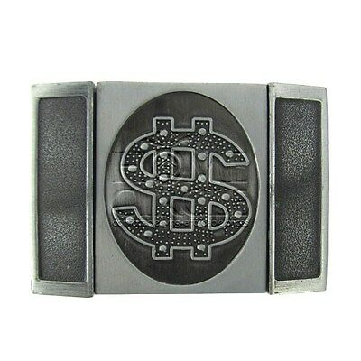 Dollar Sign Bling Metal Belt Buckle With Removable Lighter Collectable Unisex