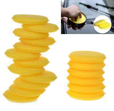 12pcs/lot Yellow Car Sponge Wax Applicator Pads Auto Care Polishing Sponges ef