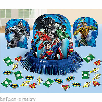 23 Piece DC Comics JUSTICE LEAGUE Children's Birthday Party Table Decorating Kit
