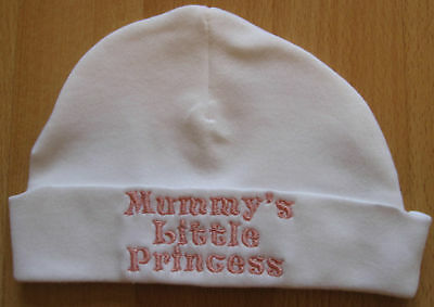 Mummy's Little Princess Embroidered Baby Girl Hat