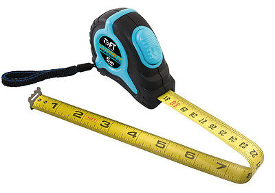 F T Blue 5m Self Locking Tape Measure class 2 DOUBLE SIDED Metric/inches print