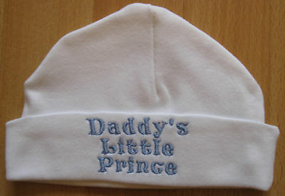 Daddy's Little Prince Embroidered Baby Boy Hat