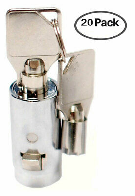 20 Universal Tubular Soda Snack Vending Machine Cylinder Plug Lock NEW