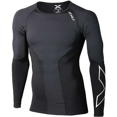 New 2XU Men Elite Compression Top Long Sleeve Jersey All Sizes FREE SHIPPING