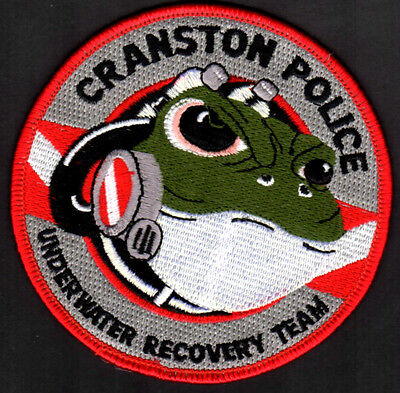 Cranston Rhode Island Police Shoulder Patch = Under Water Recovery Team FROG