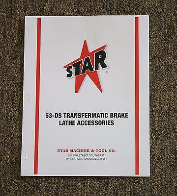 Star Machine 53-DS Transfermatic Heavy Duty Brake Lathe Accessories Catalog