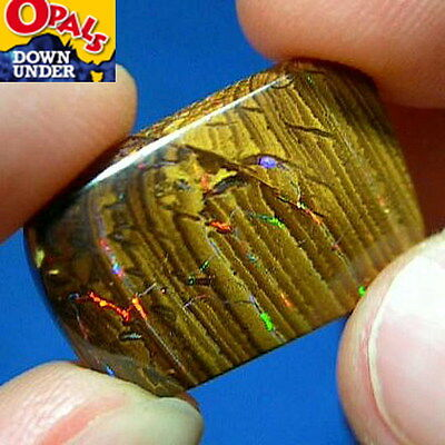 Electric Double-Sided 24ct Natural Australian Solid Yowah Boulder Opal * Videos