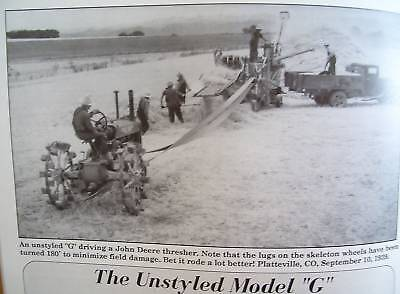 John Deere Unstyled Model G Tractor - May 1995 Green magazine- Great information