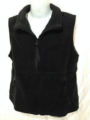 BNWT Boys/Girls Sz 16Y LW Reid Brand Black Sleeveless Polar Fleece School Vest