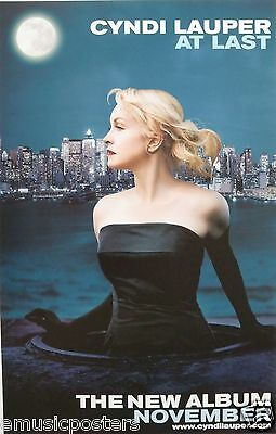 "CYNDI LAUPER ""NOVEMBER"" U.S. PROMO POSTER - Pop Rock, Contemporary Music"