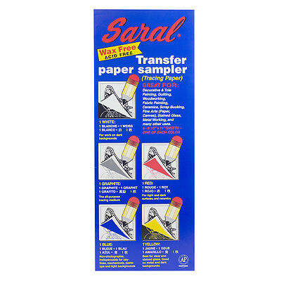 Saral Transfer Paper : A4 assorted colours : 5 sheets