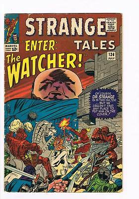 Strange Tales # 134  Enter: The Watcher ! grade 4.0  scarce hot book !