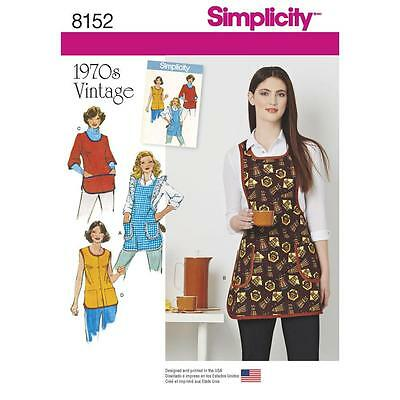 Simplicity SEWING PATTERN 8152 Misses Retro 1970s Aprons XS-L
