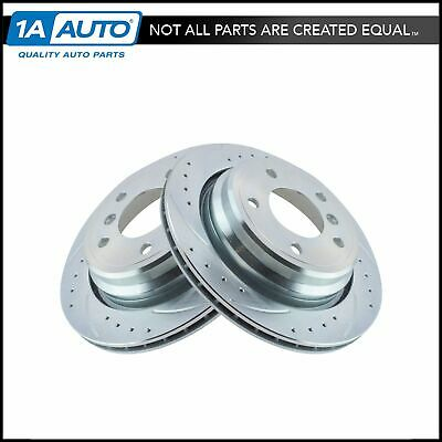 Nakamoto Performance Brake Rotor Drilled /& Slotted Coated Rear Pair for Acura RL