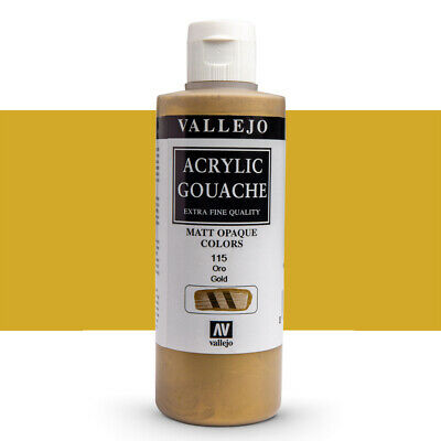 Vallejo : Acrylic Gouache Paint : 200ml : Gold