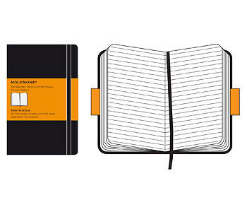 Moleskine Ruled Notebook 13x21cm Hard Cover 240 pages Black