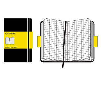 Moleskine Squared Notebook 13x21cm Hard Cover 240 pages Black